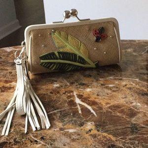 Lady bug  clutch/wristlet -